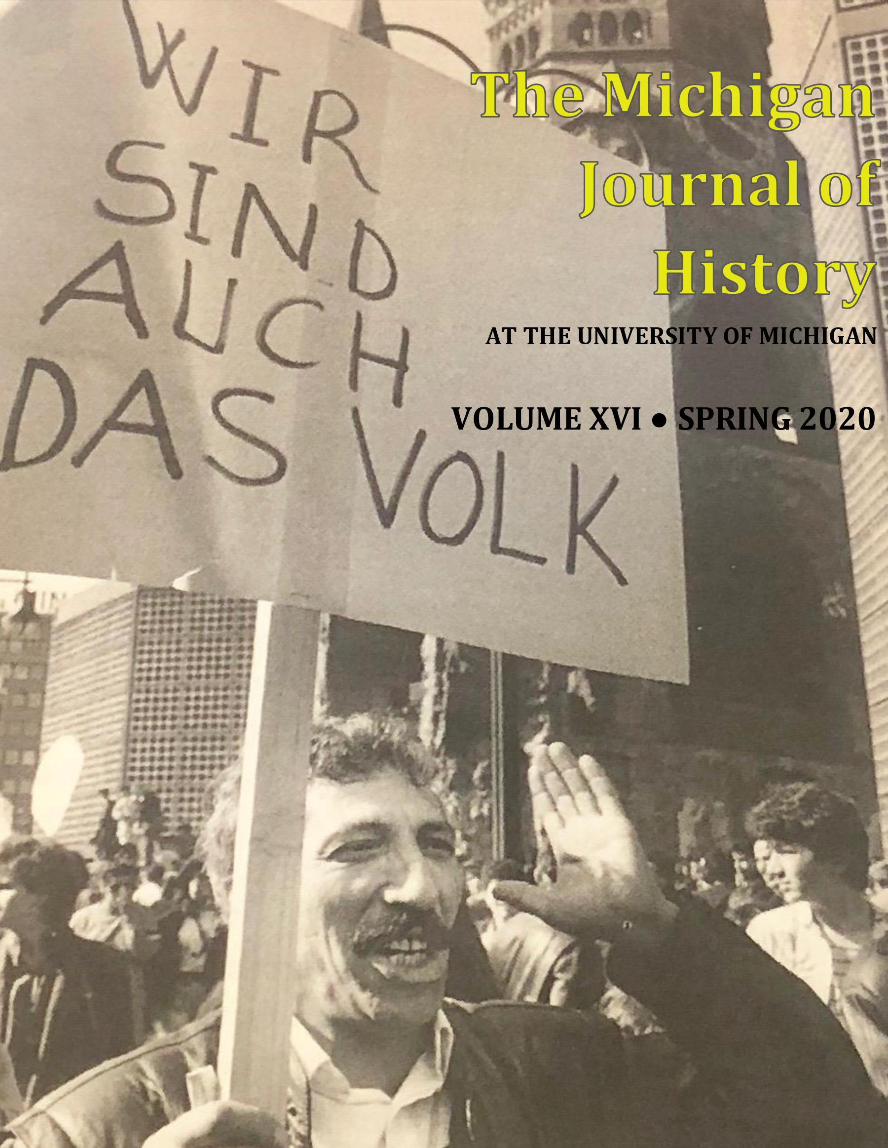 MJH VOLUME XVI COVER